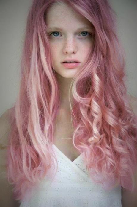 Pink hair waves.