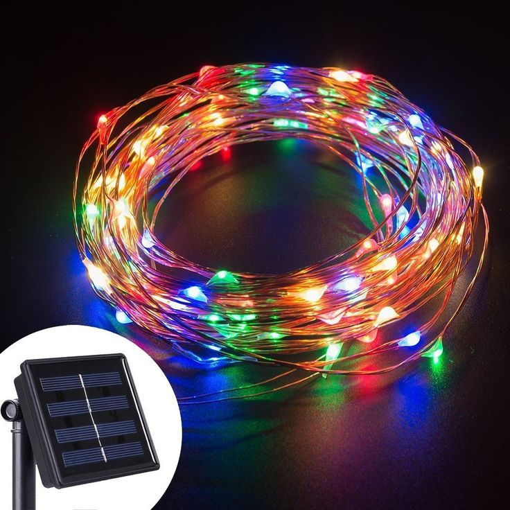 solar string lights 100 led copper wire starry fairy rope lights outdoor waterproof decorative string tree wrap lights for summer patio garden gate house