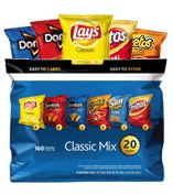 Frito-Lay:  Tostitos Natural Tortilla Chips (blue corn and yellow corn) -Cheetos Natural (White Cheddar Puffs)