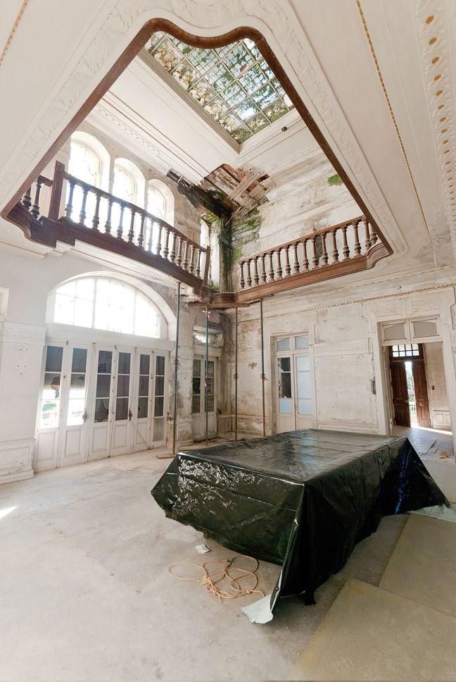 Abandoned Villa Excelsior in Luarca. Spain.