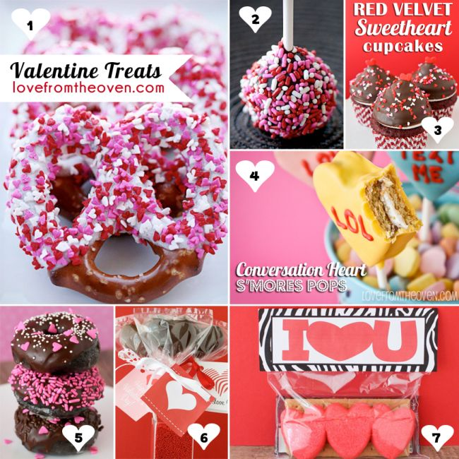 Valentine's Day Recipes.  Lots of great no bake and easy options