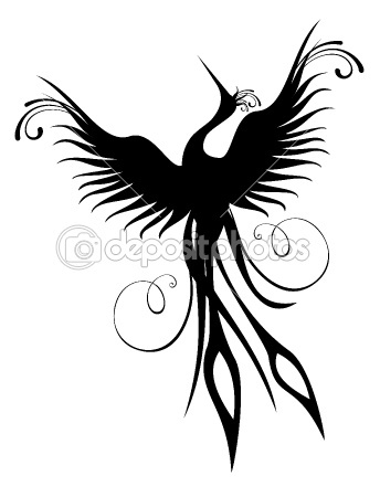 Phoenix bird figure isolated — Stock Vector #6111620