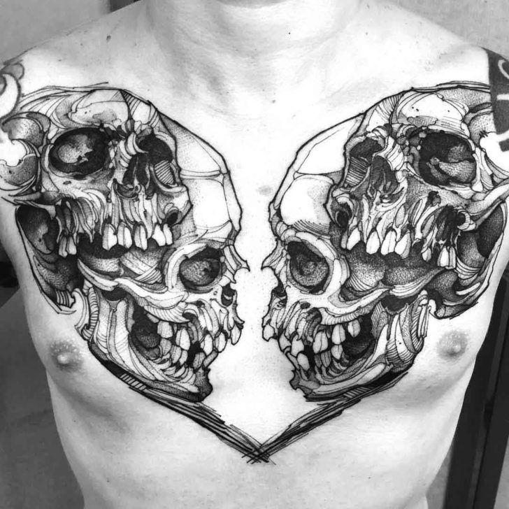 36 best Skull tattoo designs images on Pinterest   Totenkopf tattoos ...