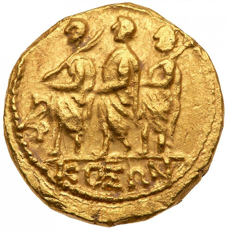 Skythia, Geto-Dacians. Koson. Gold Stater (8.55 g), mid 1st century BC EF KOΣΩN, Roman consul advancing left, accompanied by two lictors; in left field, monogram. Eagle with wings displayed standing left on scepter, holding wreath in talon. Iliescu 1; RPC 1701. Lustrous. #Coins #Gold #Ancient #MADonC