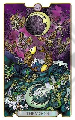 Pisces:  #Pisces ~ The Tarot card associated with Pisces is The Moon.