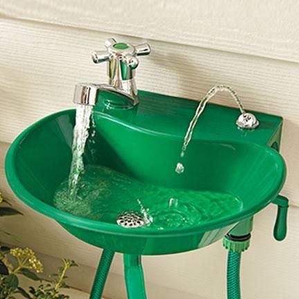 2 In 1 Outdoor Sink Faucet For The Yard Sinks Backyard Patio Kitchen