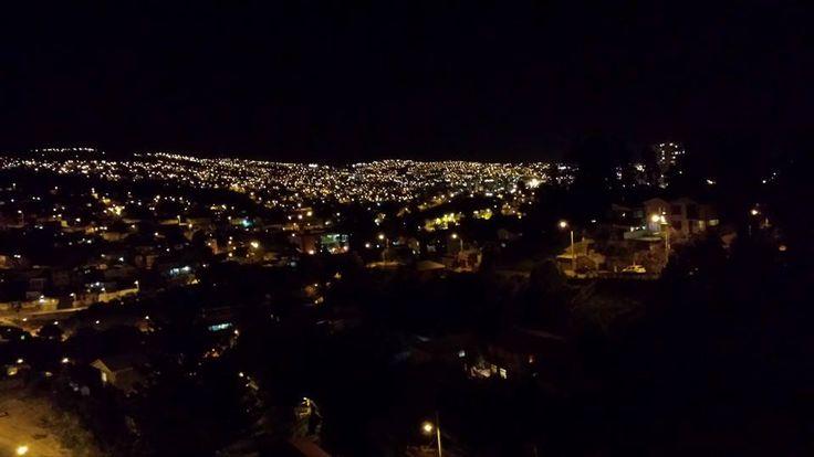 Los cerros de Valparaíso en la última noche de celebración de #FiestasPatrias