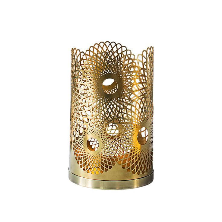 Feather Lysestake H14cm, Messing - Lara Bohincs The London Collection er…