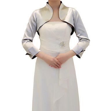 3/4 Sleeve Satin Evening/Wedding Wrap/Jacket (More Colors) – USD $ 39.99