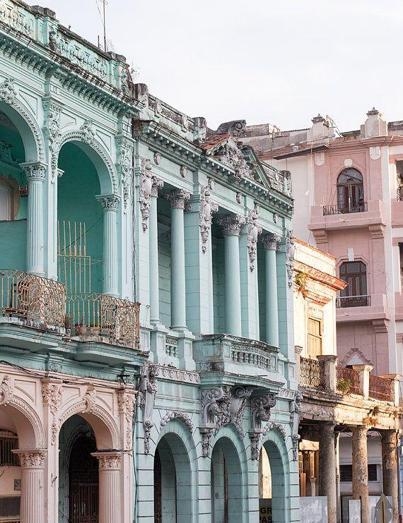 Cuba Photography, Light and Architecture of Havana Cuba, Turquoise, Caribbean, Travel Photography, Color Photography, Old Havana, Visit Cuba