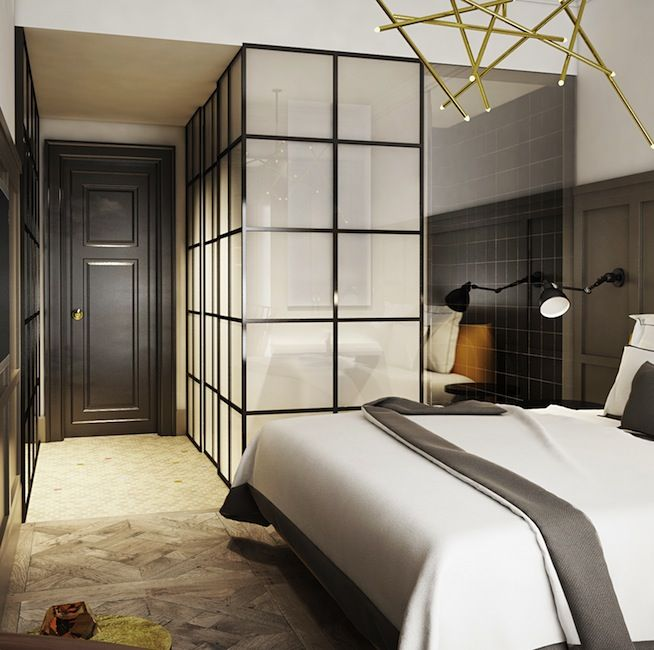 bathroom suite or walk in closet ideas for the bedroom pinned onto webinfusionhome - Architecture Bedroom Designs