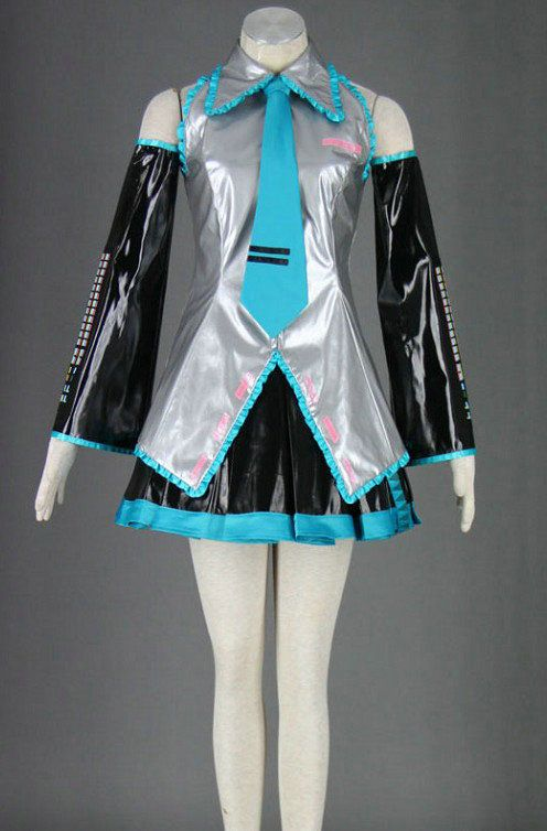 Does anyone know where I can get this Hatsune Miku cosplay outfit and the blue pigtail wig? Plz comment or message me if you know a safe online store to buy it at