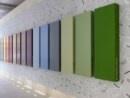 Corian palette    아름다운 실내 장식의 모습이다. 팔레트를 일정하게 배열한 모습인데 나의마음까지 정돈되는 느낌이다,.
