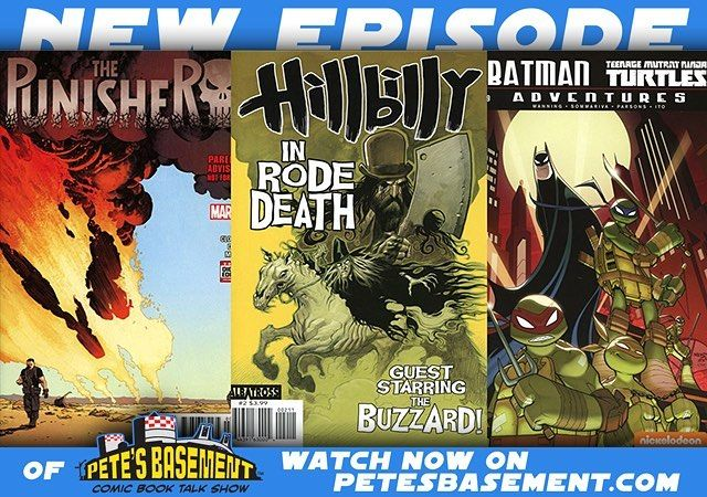 "The Pete's Basement Show is BACK! Bigger badder and drunker than ever! Catch up with Pete and the rest of the Basement Crew as they go over what books have kept them entertained over the course of the last month. Eric Powell's Hillbilly is at the top of Pete's ""You Need To Read This"" List. Punisher is as Max as Marvel can get! DC Rebirth's Green Arrow Flash and Wonder Woman are pretty popular with Rich and Trish while Greg has chosen to backtrack through the pages of some Marvel team graphic…"