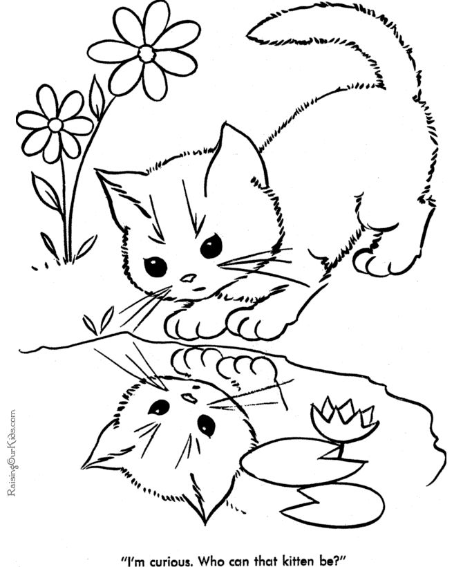 cat looking at the water animal coloring pages printable and coloring book to print for free find more coloring pages online for kids and adults of cat