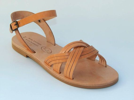 SALE 20% Greek leather sandals by babisg on Etsy