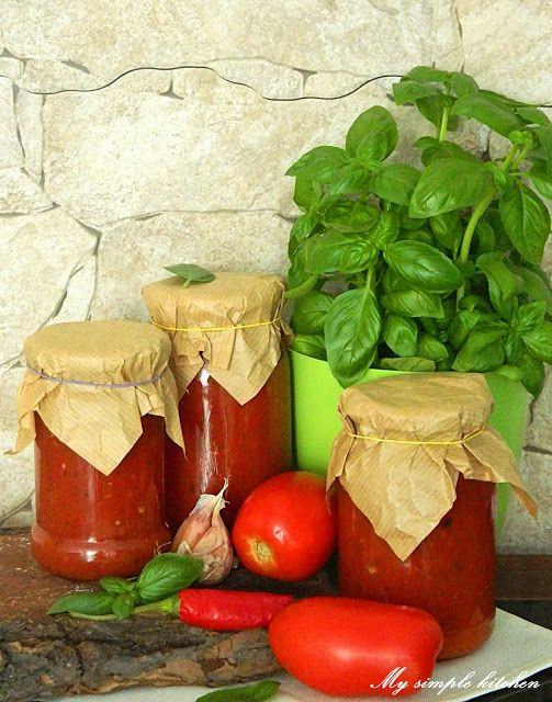My simple kitchen: Domowy sos pomidorowy