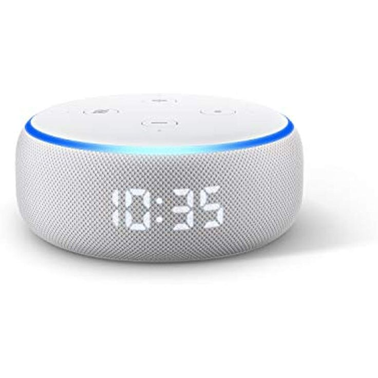 The new Echo Dot 3.Gen. smart speaker with clock and Alexa sandstone fabric # electronics photo # eBook reader – accessories # cases