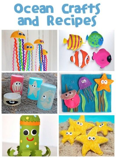Ocean Crafts & Recipes to do with grand kids at beach house. Fun!!