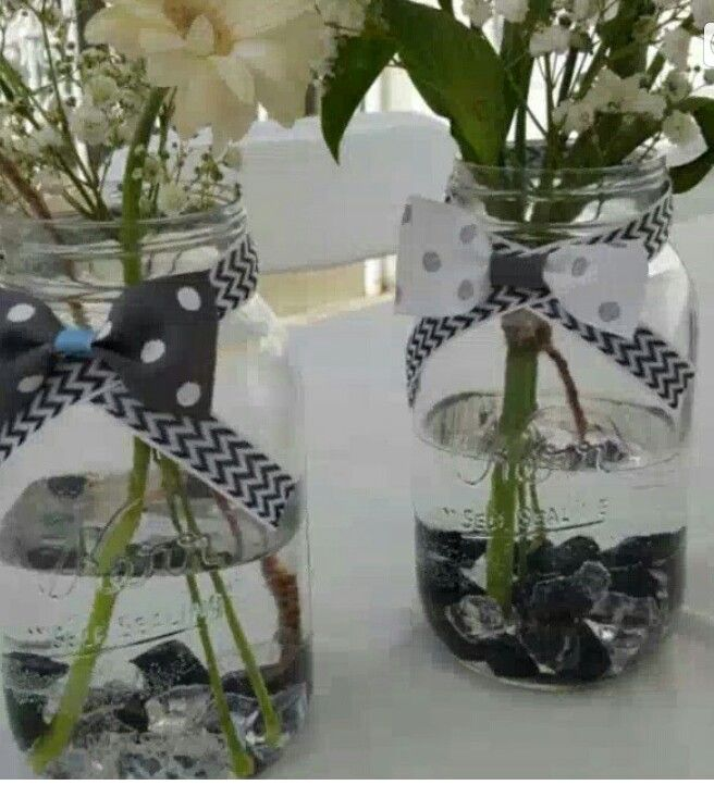 Baby Shower Bow Tie Centerpiece Theme