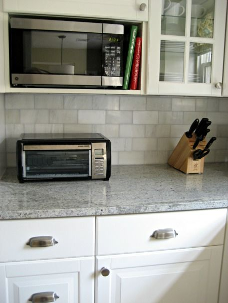 If You Have White Cream Cabinets What Color Granite Kitchens Pinterest Tiles Backsplash And Marble