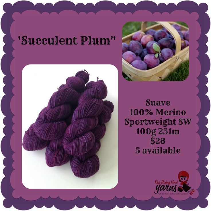 Succulent Plum - Summerfruits Stocking | Red Riding Hood Yarns