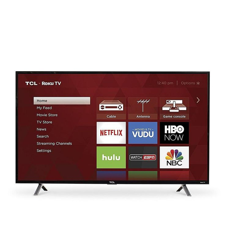 """TCL 49"""" Roku Streaming Smart LED Full HD TV with HDMI/Ethernet Cable"""
