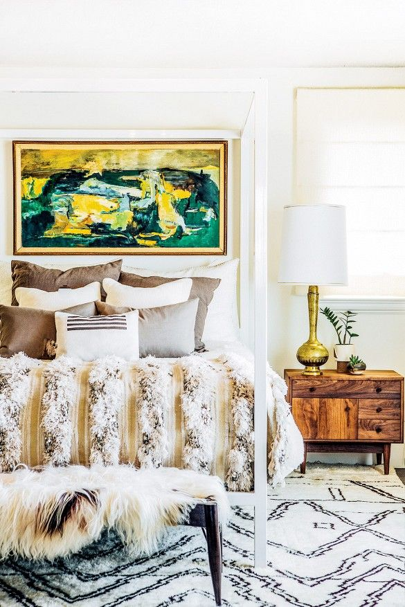 a bedroom all about texture