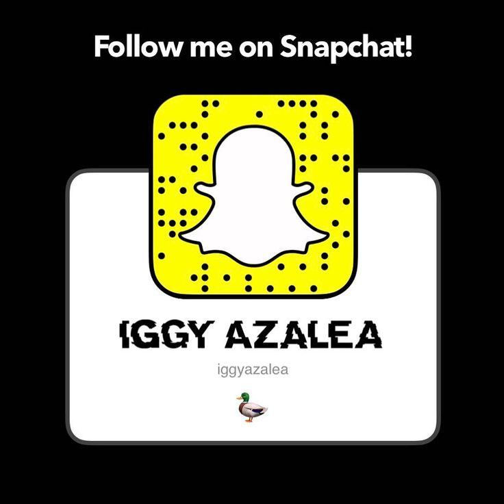 #Follow #IggyAzalea @ #Snapchat! User: #iggyazalea. #AmethystAmeliaKelly #BlackWidow #ChangeYourLife #Fancy #Furious7 #GrandHustle #HipHop #GoHardOrGoHome #Music #PrettyGirls #Rap #SurvivingtheSummer #TheNewClassic #Work www.iggyazalea.com