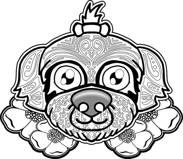 dog sugar skull coloring pages | 241 best Mandalas/Sugar Skulls/Day of the Dead images on ...