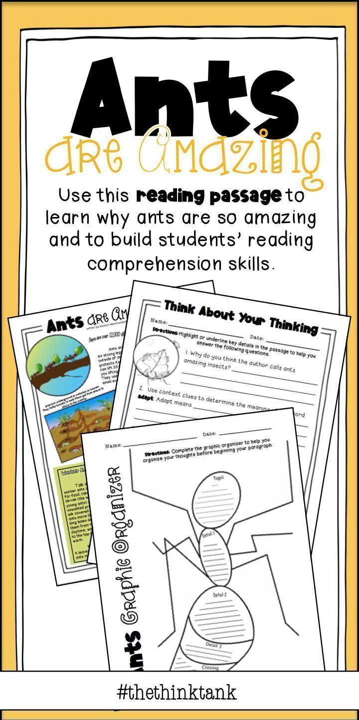 Reading Comprehension Ants Are Amazing Distance Learning Reading Comprehension Skills Reading Comprehension Reading Passages [ 1443 x 720 Pixel ]