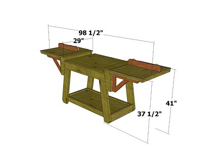 Miter Saw Stand Extensions