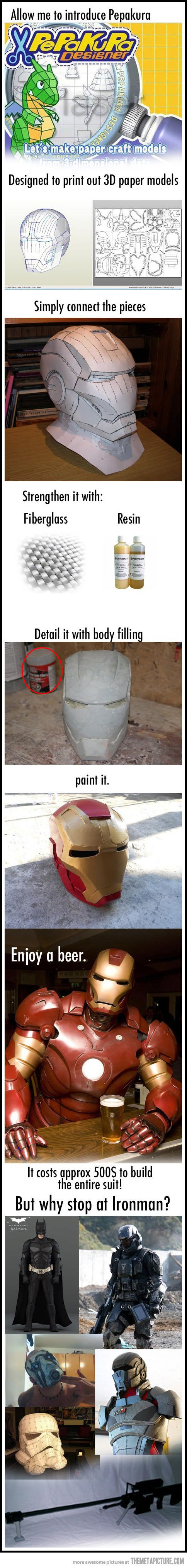 Make your own Iron Man suit…