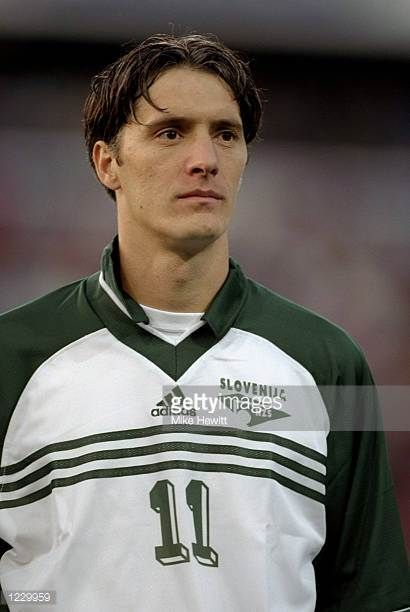 Portrait of Miran Pavlin of Slovenia lining up for the European Championship qualifier against Norway at the Ullevaal Stadium in Oslo Norway Norway...