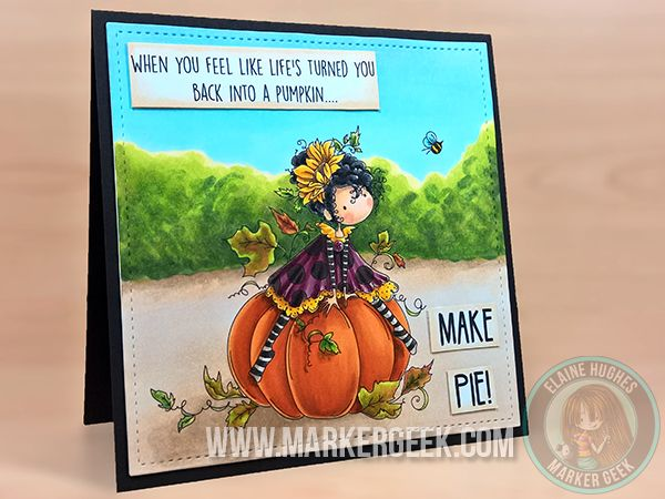 Stamping Bella Tiny Townie Patricia Loves Pumpkins rubber stamp. Click through to read the blog post, and see more peeks and inspiration from the new release. Release Date 3rd Sept 2016.