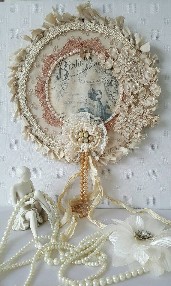 Vintage style dreamcatcher Shabby chic decor by Chiclaceandpearls