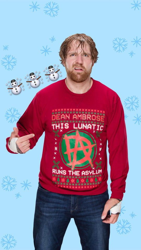 Dean Ambrose, Instagram Story Photos of Ugly Christmas Sweater Photos