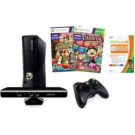 Xbox 360 250GB Console w/ Kinect & 2 Bonus Games