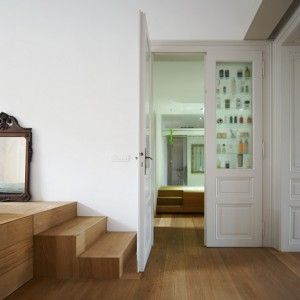 Level Apartment by OFIS Arhitekti - unique storage solution.