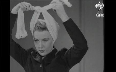 """This is sooo great! Vintage tutorial on how to tie turbans. """"Nothing easier in the whole wide world, except spending money"""""""