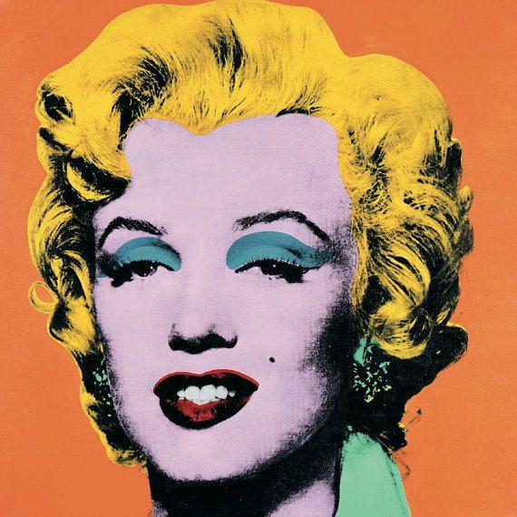 ANDY WARHOL - 'Marilyn (orange)' - original limited edition offset lithograph - c1989 (Roy Lichtenstein interest)