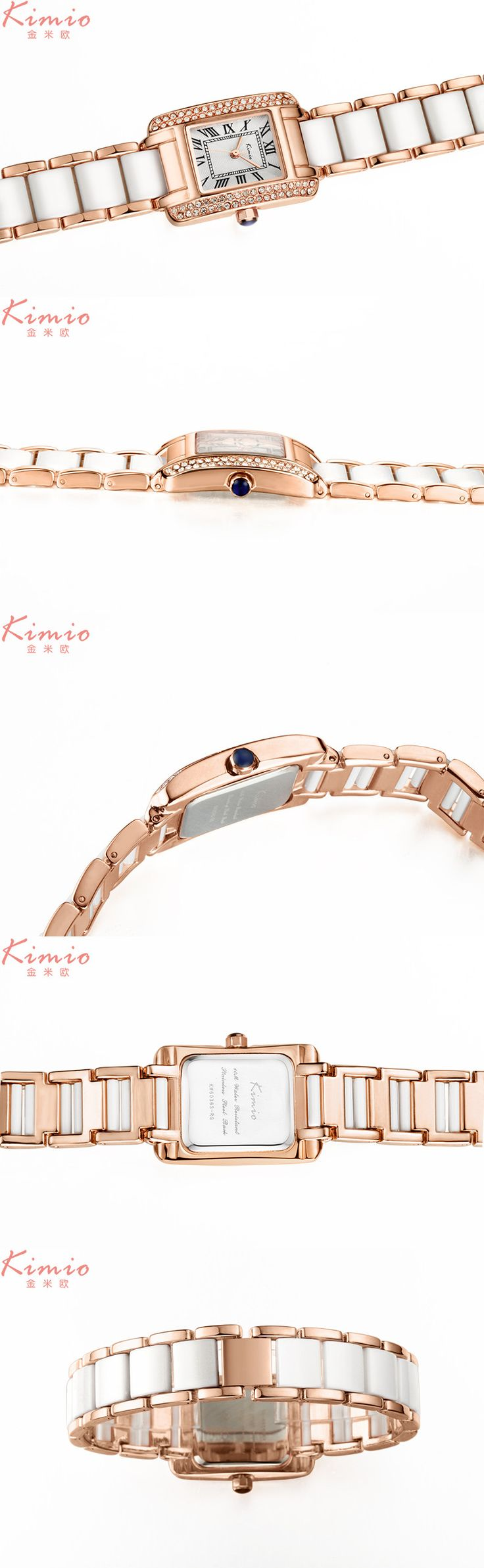 KIMIO KW6036S Luxury Ladies Quartz Watch Fashion Rhinestones Rectangle Dial Women Dress Watch  #women #men #fashion #jewelry #watches