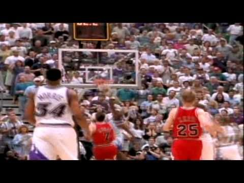 "Michael Jordan's Famous ""Flu Game"" Game 5 1997 NBA Finals.  This alone shows the difference between today's player's and those who were the best!"