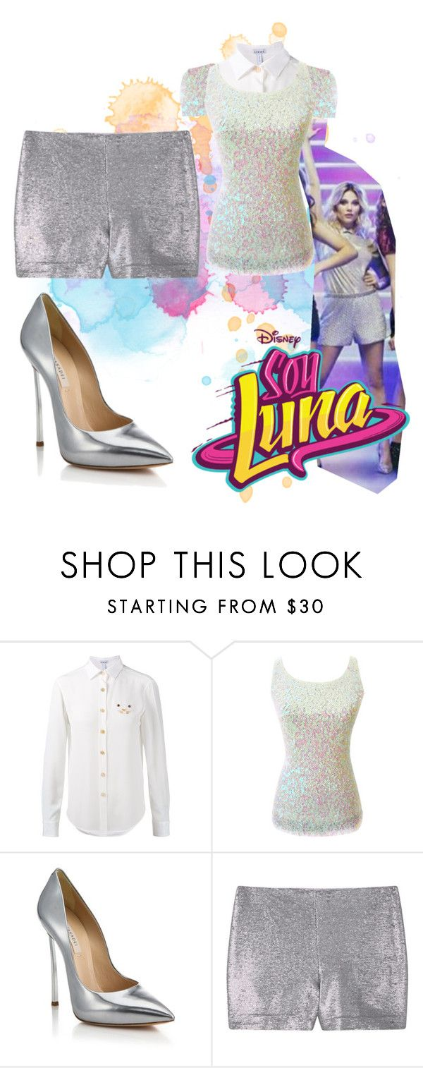 """""""soy luna"""" by maria-cmxiv on Polyvore featuring Loewe, Casadei and MANGO"""