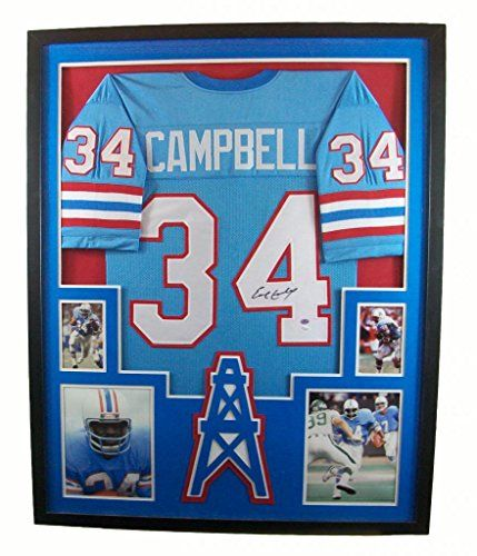 ... Earl Campbell Framed Jersey Signed Houston Oilers JSA COA Autographed  Mister Mancave http ... 847f6ab63