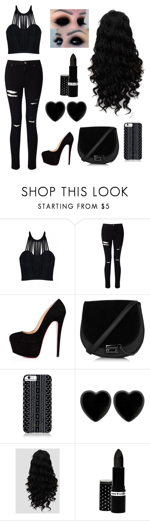 """My Love For Black Is Endless ✳"" by ccatprvncess ❤ liked on Polyvore featuring Posh Girl, Miss Selfridge, Christian Louboutin, Savannah Hayes, Dollydagger and Hard Candy"