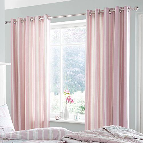 Catherine Lansfield Vintage - Cortinas, color rosa