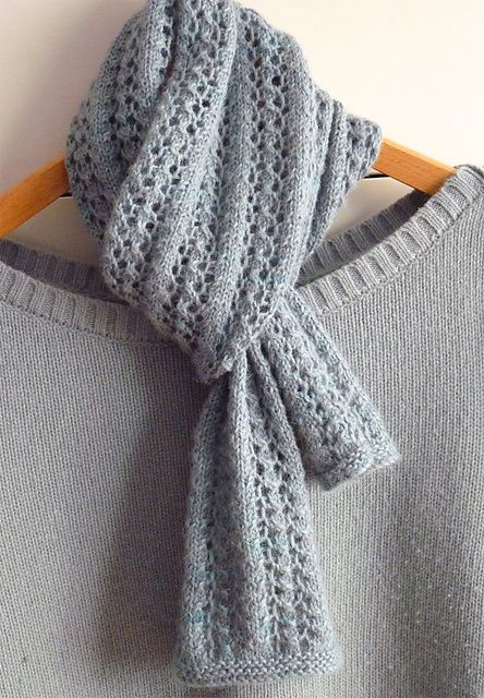 Little Leaf Lace Scarf free knitting pattern - 10 Free Knitted Scarf Patterns