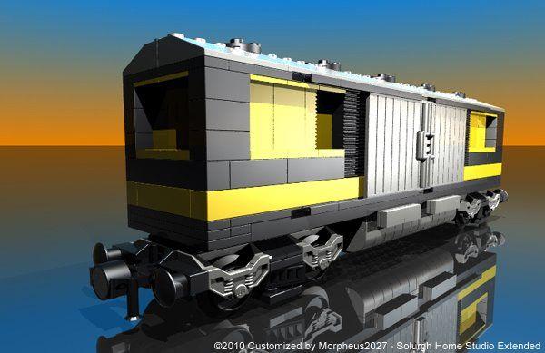Lego 7898: Cargo Train Deluxe - Customized by Davide Solurghi (Morpheus)
