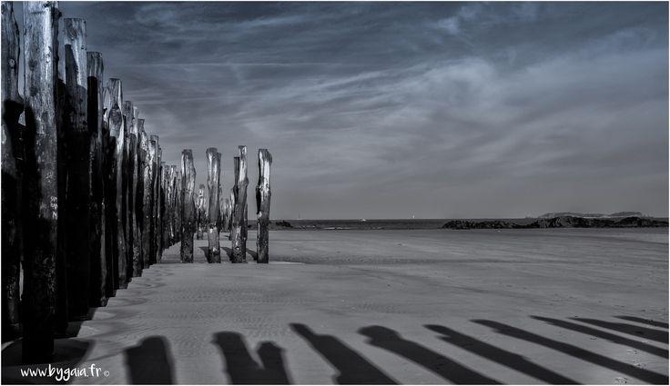 photo mer wall paper saint malo jeu ombre noir et blanc reflet geometrie  Photos plaisir - Photographe mariage rennes judith gouebault